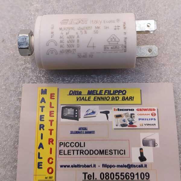 condensatore per motori elettrici 400v