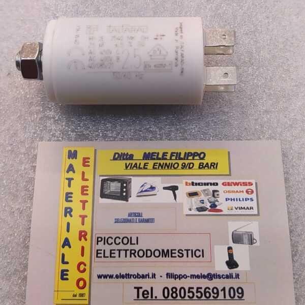 condensatore per rifasamento motori elettrici